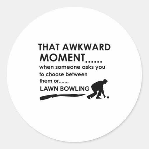 Cool lawn bowl  designs sticker