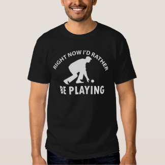 Cool lawn bowl designs tee shirt