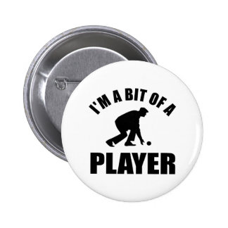 Cool Lawn bowling design Pinback Buttons