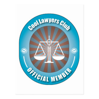 Cool Lawyers Club Postcard