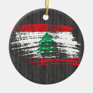 Cool Lebanese flag design Ceramic Ornament