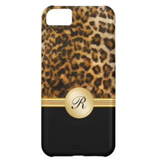 Cool Leopard Monogram iPhone 5C Case