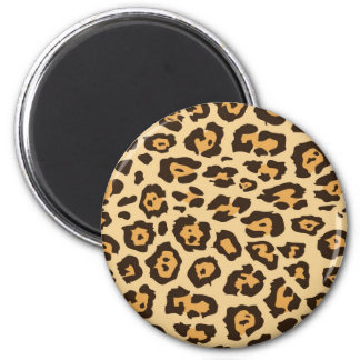 Cool Leopard Print Pattern Gifts for Her 6 Cm Round Magnet