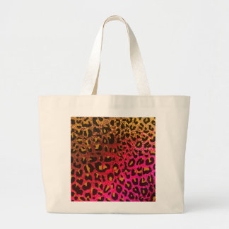 Cool Leopard print skin bright rough background Canvas Bag