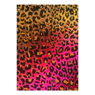 Cool Leopard print skin bright rough background Custom Announcement
