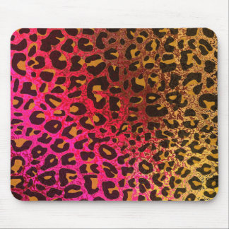Cool Leopard print skin bright rough background Mouse Pad