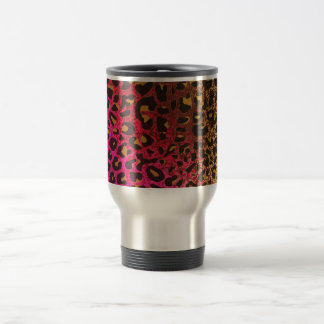 Cool Leopard print skin bright rough background Travel Mug