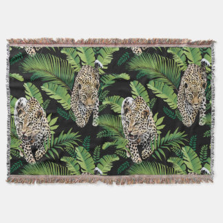 Cool Leopards Pattern throw blanket