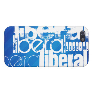 Cool Liberal; Royal Blue Stripes iPhone 5 Case