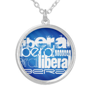Cool Liberal; Royal Blue Stripes Necklace