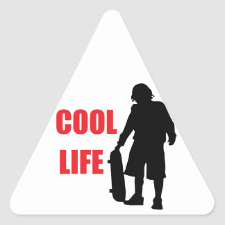 cool life triangle sticker
