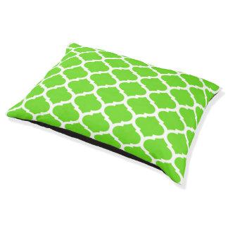 Cool Lime Green Moroccan Quatrefoil Pattern