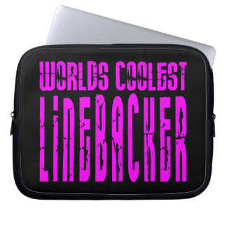 Cool Linebackers Pink : Worlds Coolest Linebacker Laptop Computer Sleeves