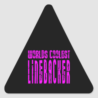 Cool Linebackers Pink : Worlds Coolest Linebacker Triangle Sticker