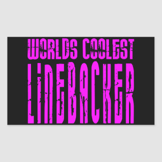Cool Linebackers Pink : Worlds Coolest Linebacker Rectangular Sticker