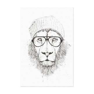 Cool lion (blackandwhite) canvas print