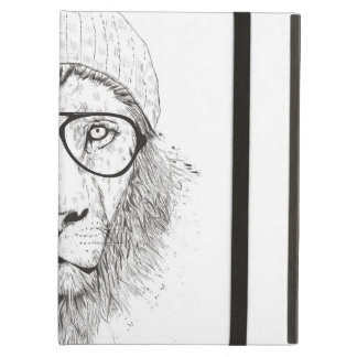 Cool lion (blackandwhite) iPad air case