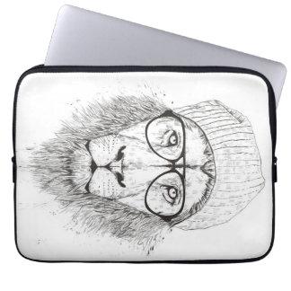 Cool lion (blackandwhite) laptop sleeve