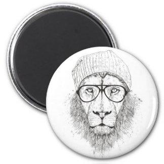 Cool lion (blackandwhite) magnet