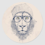 Cool lion stickers