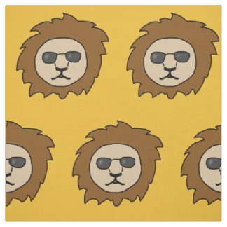Cool Lions with Sunglasses Fabric