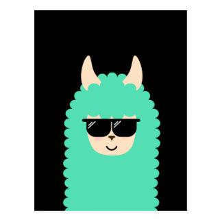 Cool Llama Emoji Postcard