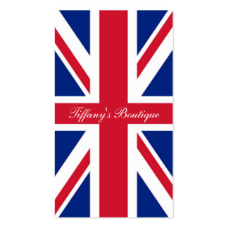 cool london fashion british flag union jack pack of standard business cards