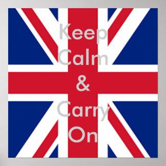 cool london fashion british flag union jack poster
