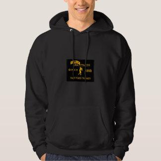 cool looking black & gold hoodie