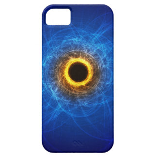 Cool looking blue and orange Iphone 5 case