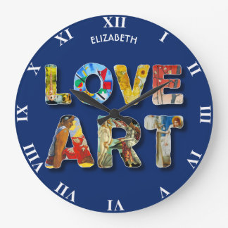 Cool Love Art Famous Masters For Peace Funny Large Clock