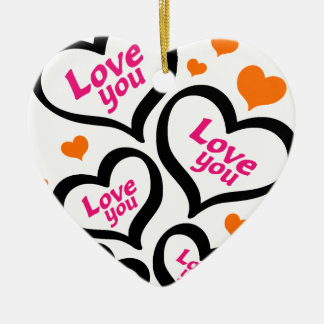 cool love hearts ceramic heart decoration