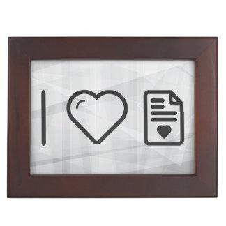 Cool Love Letters Keepsake Box