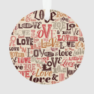 Cool Love Text Design Ornament