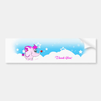 Cool Lucky Pinkie Thank You Bumper Sticker