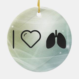 Cool Lungs Ceramic Ornament