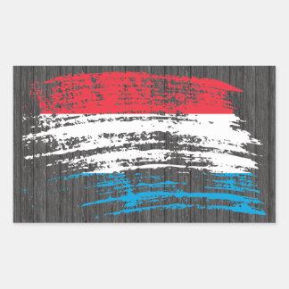Cool Luxembourger flag design Rectangular Sticker