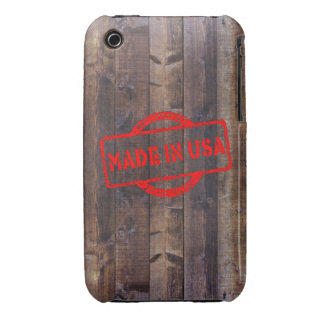 Cool made in usa wood background iPhone 3 Case-Mate cases