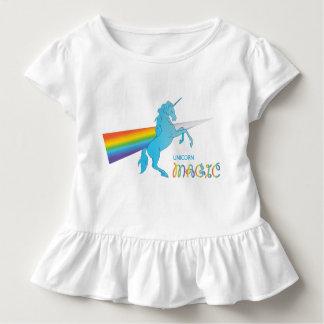 Cool magic Unicorn with bright rainbow. Fantasy. Toddler T-Shirt