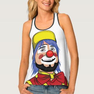 Cool man clown face colorful design. singlet