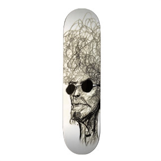 Cool Man with Huge Hair Afro Dude 20 Cm Skateboard Deck