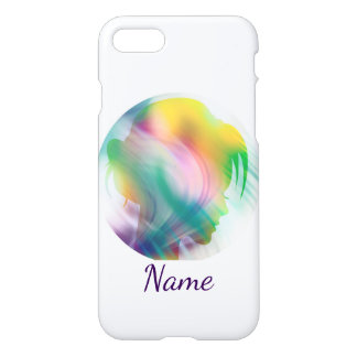 Cool Manga Silhouette of Pretty Girl Custom iPhone 8/7 Case