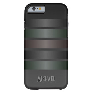 Cool Manly Black Stripes Pattern iPhone 6 Case