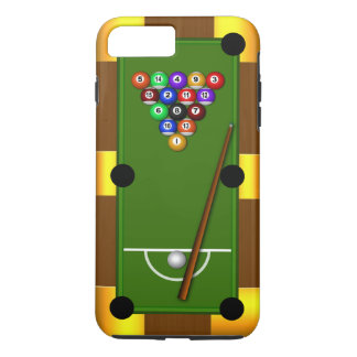 Cool Manly Pool Table Eight Ball Billiards Tough iPhone 8 Plus/7 Plus Case
