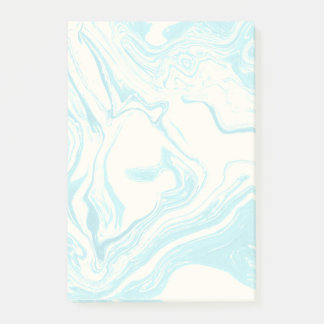 Cool Marble Design in Turquoise and Cream Post-it Notes