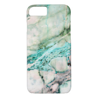 Cool Marble Texture Gray With Green Accents iPhone 8/7 Case