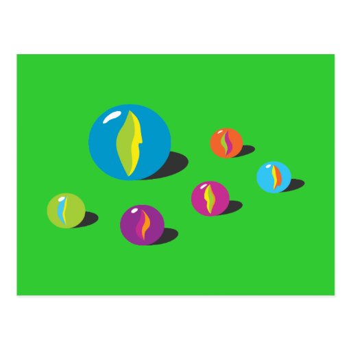 Cool Marbles Postcard