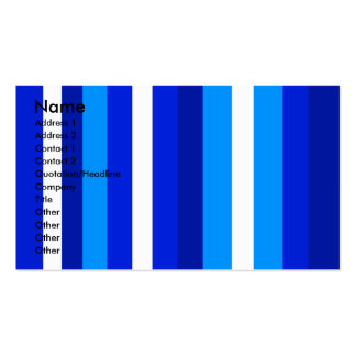 Cool marine blue white and light blue stripes pack of standard business cards