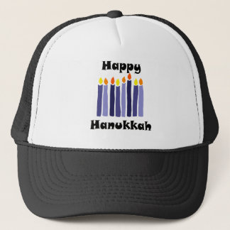 Cool Menorah Candles Happy Hanukkah Art Trucker Hat
