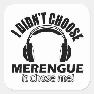 Cool merengue designs square sticker